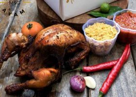 Ayam kalasan ala Dinghao Restaurant ini juara di Makassar