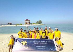 Peduli lingkungan, MYKO Hotel bersihkan Pulau Kodingareng Keke